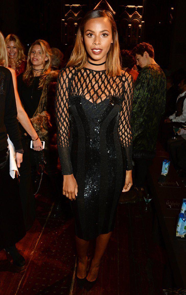 Pin for Later: Londres Attire Beaucoup de Célébrités à la Fashion Week Rochelle Humes Au défilé Julien Macdonald.