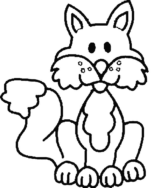 Cute Fox Coloring Pages What
