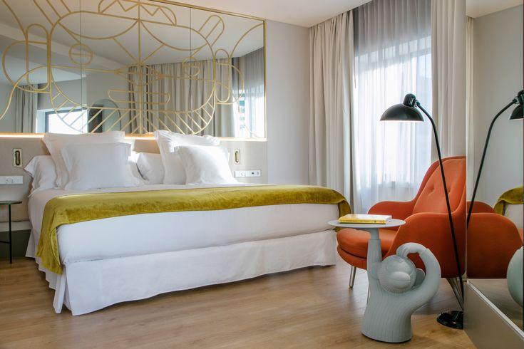 Barceló Torre de Madrid Bedroom |  www.bocadolobo.com #hoteldesign #modernhotel #hoteldecoration #interiordesignideas #hotelrooms