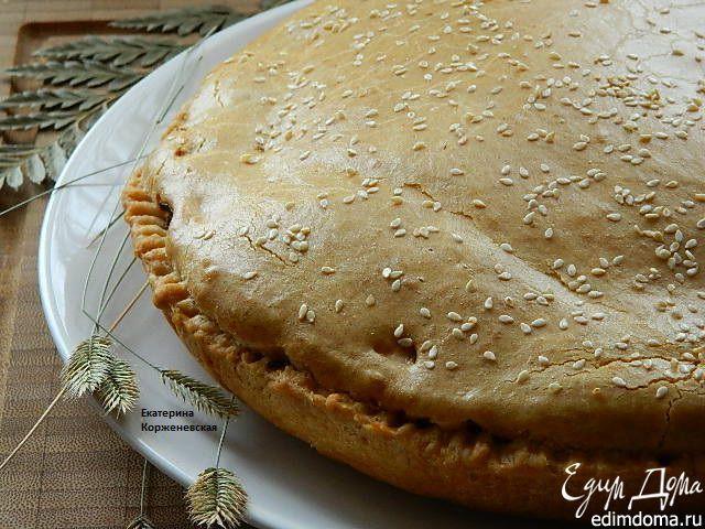 Мясной пирог. Очень вкусный, сочный пирог, нижнее тесто хрустящее, а верхнее очень нежное и воздушное. #edimdoma #recipe #cookery #pie