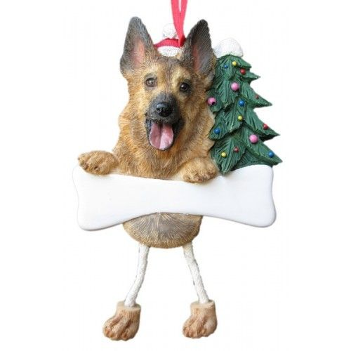 Dangling Leg German Shepherd Dog Christmas Ornament