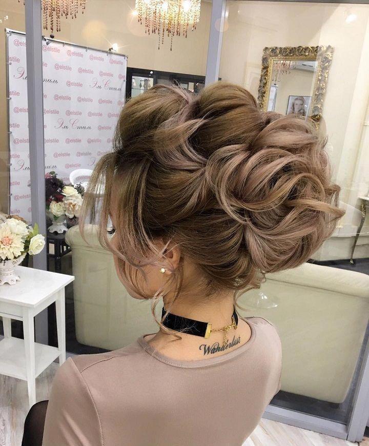 Atemberaubende Hochsteckfrisur-Frisur, die Sie überall tragen können - Diese atemberaubende Hochsteckfrisur-Hochzeitsfrisur für mittellanges Haar ist perfekt für ...