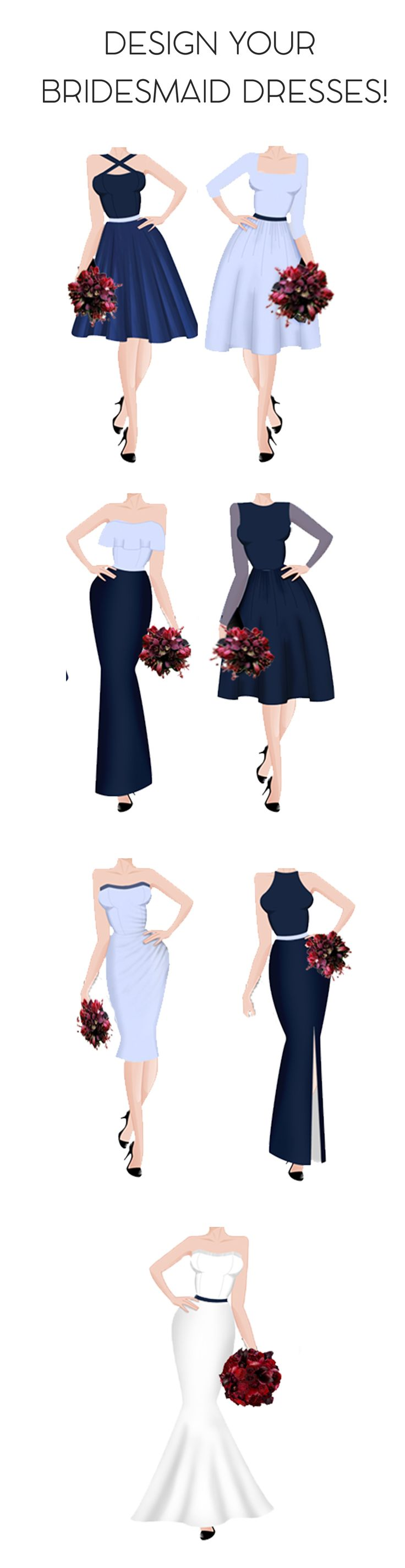 Mix and match bridesmaid designs online at Sui Generis. Custom made dresses to your size #style #bridesmaid #design #fashion #dress #diy #budget