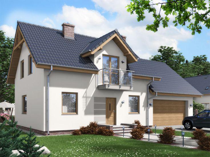 Niewielki, tani i prosty w budowie, urokliwy dom parterowy z poddaszem użytkowym, niepodpiwniczony, przeznaczony dla 4-5 osobowej rodziny