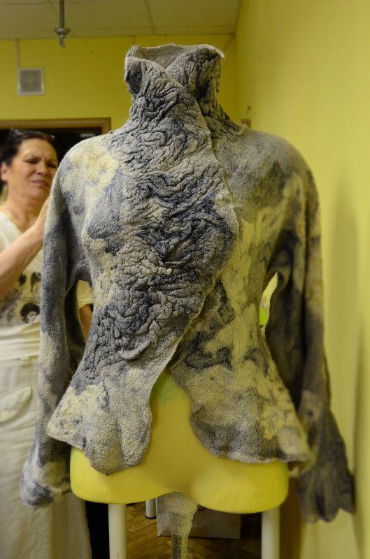Рассказ о семинаре Светланы Болюх по арт-жакету из флиса - Самодивка