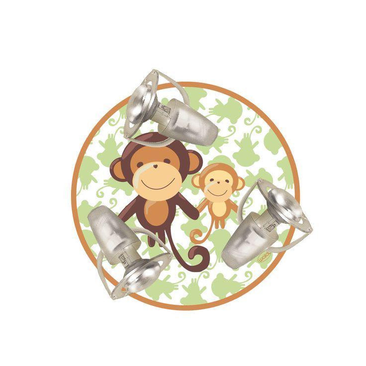 WaldiLeuchten Monkey 3 Light Flush Ceiling Light | Wayfair.co.uk