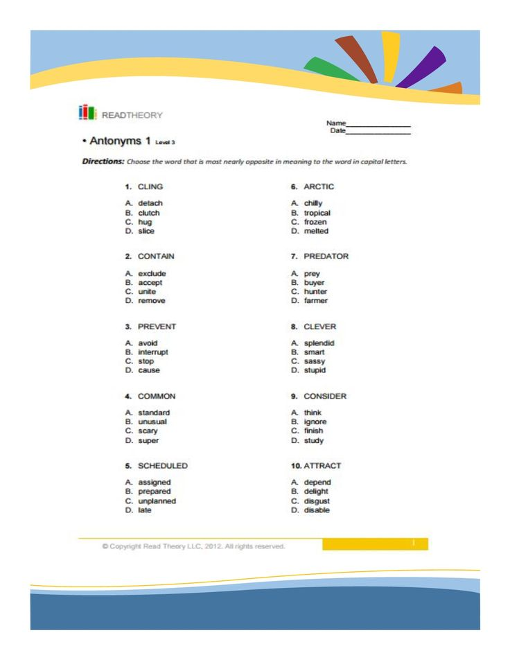 Source of English Worksheet by Grade or Levels Synonyms and – Synonyms and Antonyms Worksheets