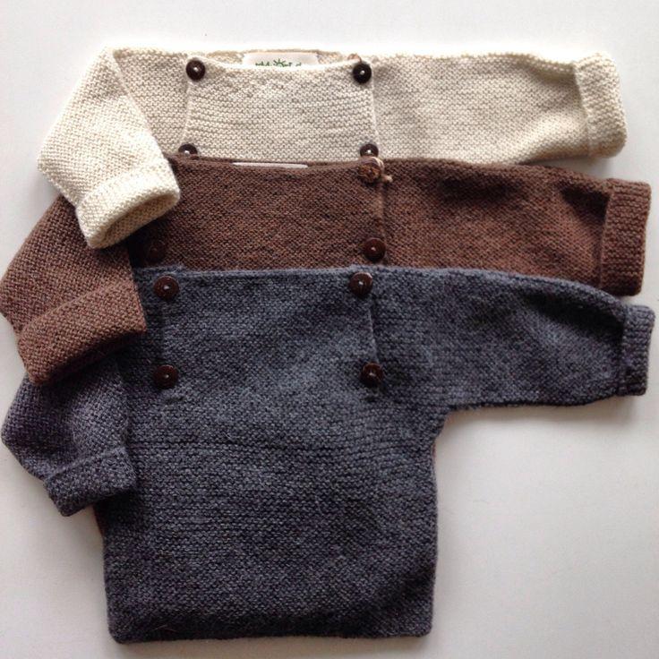Beautiful alpaca sweater Grey, Brown & Natural 3m-2y