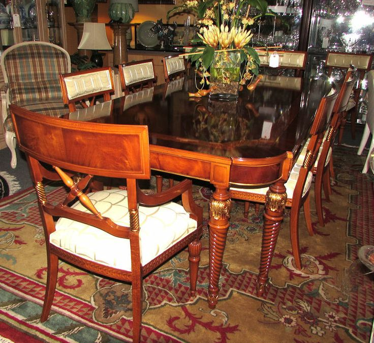 BUSNELLI ADAMO OTELLO DINING TABLE PLUS 10 CARON DINING CHAIRS made in ITALY