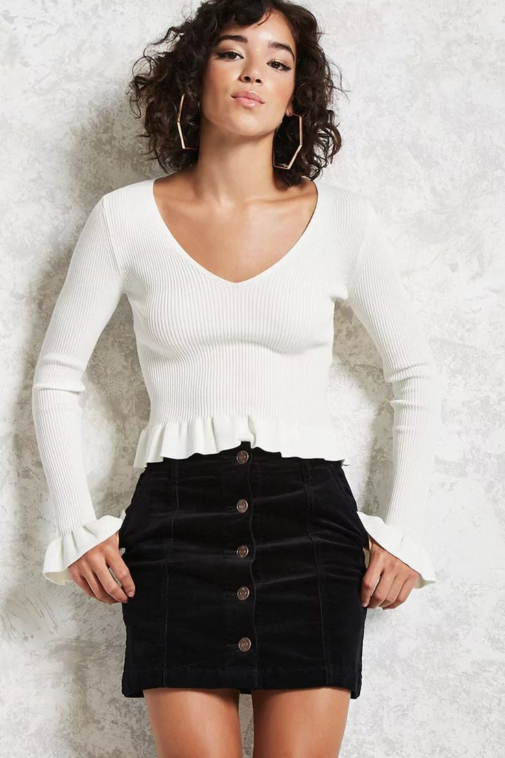 Product Name:Corduroy Buttoned Skirt, Category:bottoms, Price:19.9