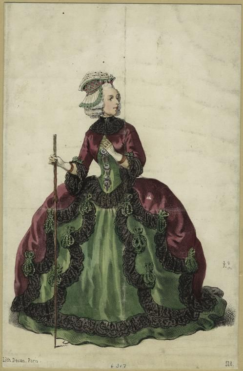 Victorian Fancy Dress Costume  - from digitalgallery.nypl.org