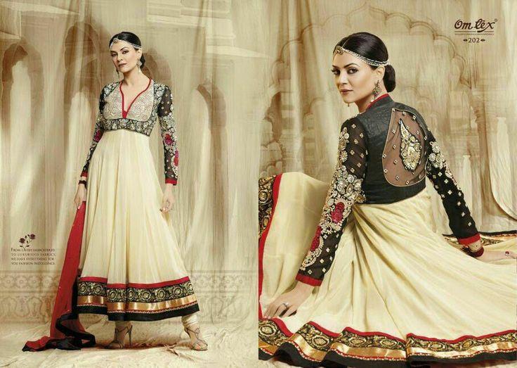 Unstitched Anarkali Dress with Dupatta