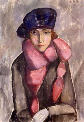 Roda Liljor (1943) by Agda Holst (1886-1976), Swedish (kristianstadsbladet)