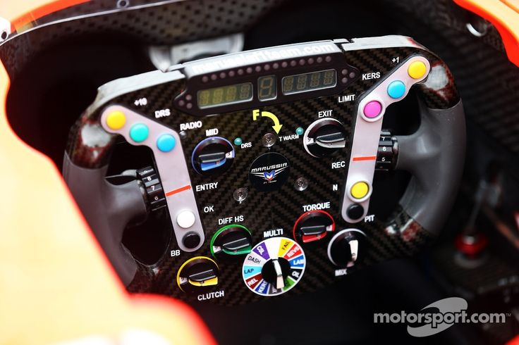 Marussia F1 Team MR02 steering wheel (Bahrain 2013)