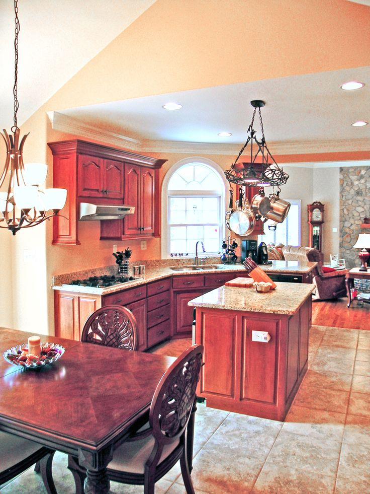 499 best images about kitchen floor plans on pinterest for Open country kitchen floor plans