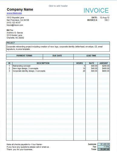 Resultado de imagem para modelo de invoice para serviços
