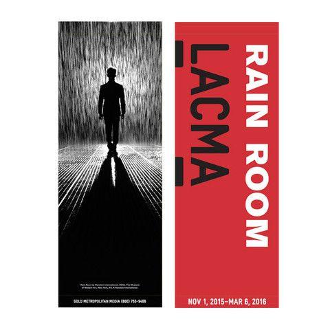 LACMA Store - Rain Room Street Banner