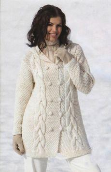 book-Вязаные белые пальто