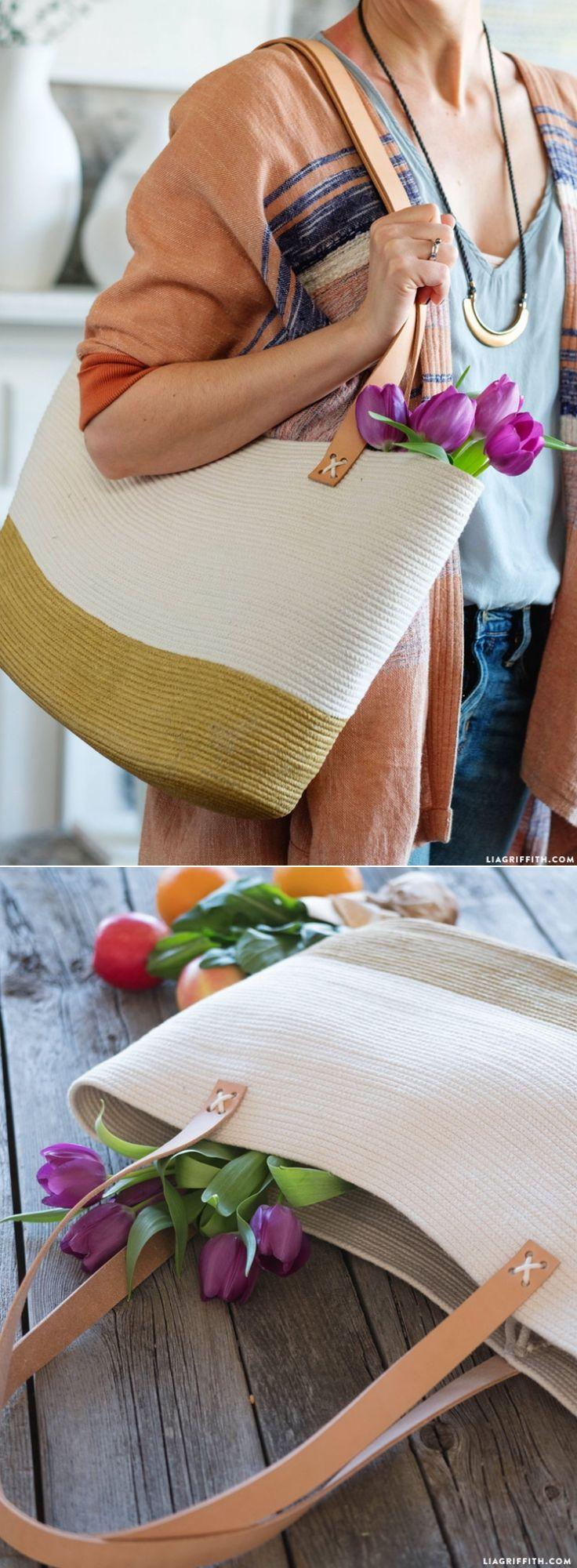 #DIY Rope Bag at www.LiaGriffith.com: