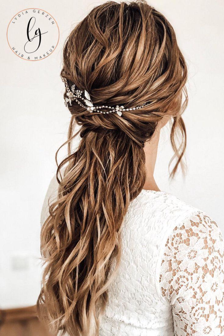 Videotutorial Boho Ponytail Brautfrisur Frisur Hochzeit Romantische Frisuren