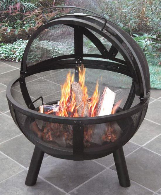 portable propane fire pit on wheels home depot steel menards