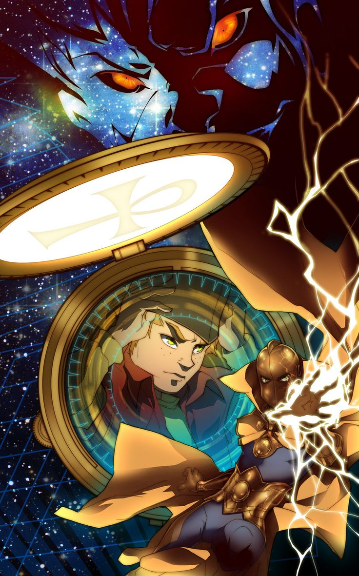 Kid Fate ~dou-hong | Dr. Fate takes over the body of Kid Flash to fight Klarion the Witch Boy