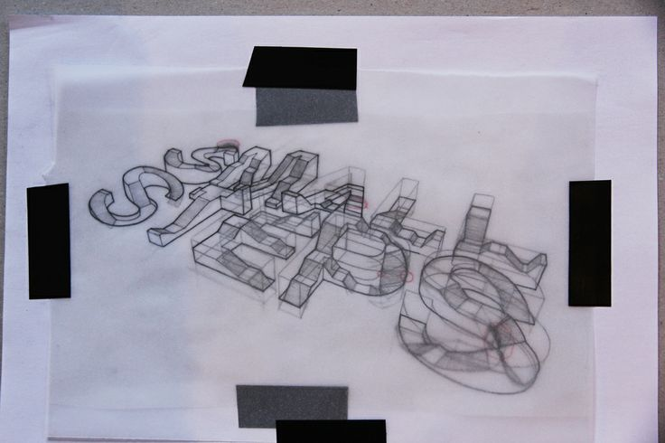 Incredible 3D Typography Sketches by Lex Wilson