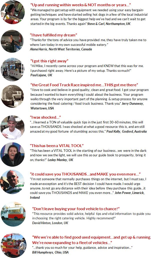 #1 fast-track toolkit to get super cheap food concession trailers for sale and grow your mobile food trailer business, sales & incomes either full-time- or part-time with new or used food trailers.