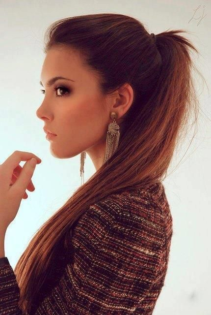 pretty ponytail: Hair Colors, Highponytail, Makeup, Long Hair, Longhair, Hair Style, High Ponytail, Long Ponytail, Ponies Tail