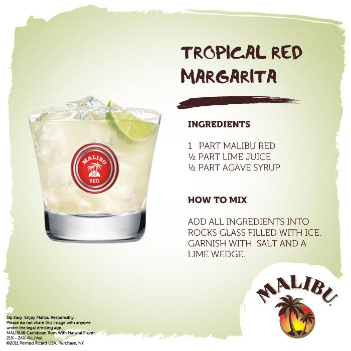 17 Best Images About Malibu Cocktail Creations On