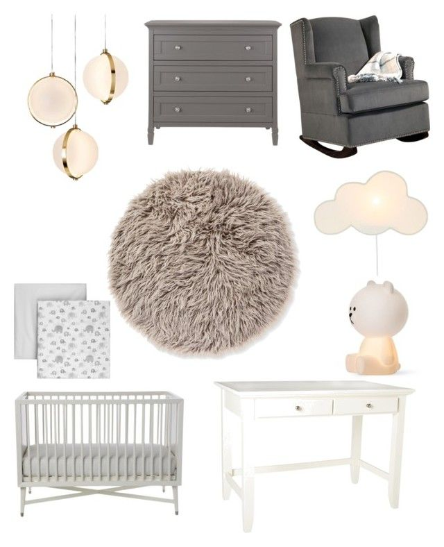 Baby room by majkenmatilda on Polyvore featuring polyvore, interior, interiors, interior design, home, home decor, interior decorating, Abbyson Living, Baroncelli, DwellStudio and Home Styles