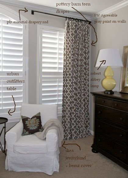 curtains and paint color