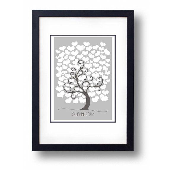 Love Tree Wedding Guest 100 Hearts Book by mammothcreativeworks #wedding