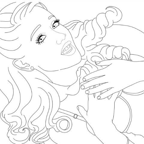 Coloring Page Ariana Grande Pinterest