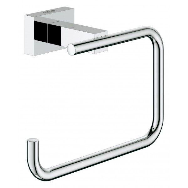 Держатель туалетной бумаги GROHE Essentials Cube без крышки хром 40507000