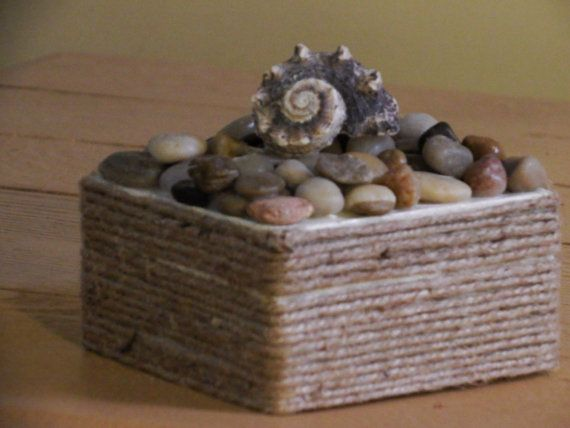 Sea Shell BoxNautical Decor Beach Home Decor by EyesofImagination