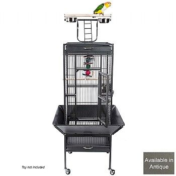 Eden Play Gym Top Small Parrot Cage - Antique. For smaller Parrots.