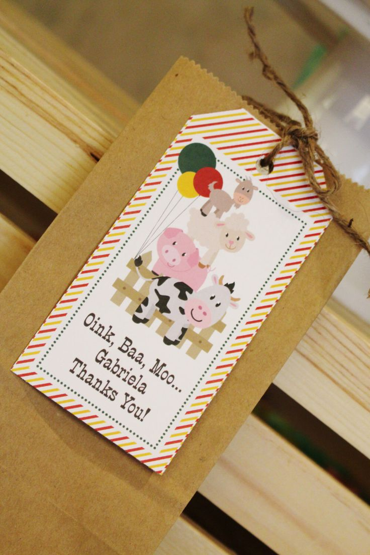 Barnyard Themed Party Favors- Barnyard Themed Birthday Party- Farm Animal Themed Party- Farm Animal Favor Tags by CrowningDetails on Etsy https://www.etsy.com/listing/177101101/barnyard-themed-party-favors-barnyard