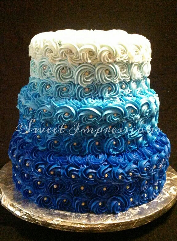 Chocolate Cake With Teal Icing