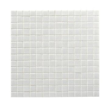 Mosaïque sol/mur en pâte de verre 2x2, blanc, 32.7x32.7cm | Leroy Merlin