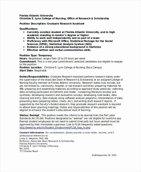 Research Assistant Job Description Resume New Personal Statement Research Technician Research Assistant Resume Objective Good Resume Examples
