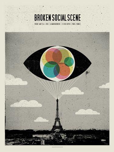 Broken Social Scene concert poster  at La Maroquinerie, Paris- May 21, 2010