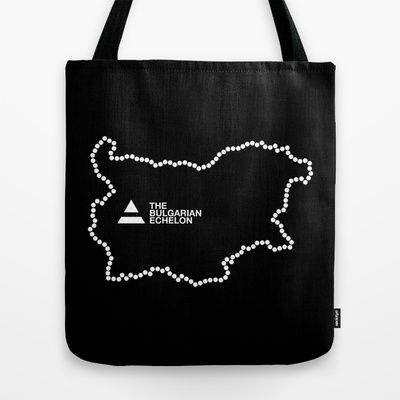 The Bulgarian Echelon (B/W) Tote Bag by Vanya Vasileva - $22.00 http://society6.com/vanyavasileva/