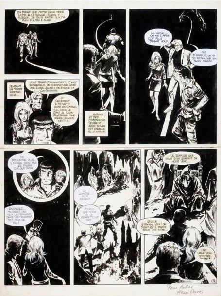 Vermot et Associés, Paris William VANCE (né en 1935) Bob Morane Planche 28 de l'album «L'archipel de la terreur» Encre de chine sur papier 63 x 48 cm - Symev - 26/03/2015