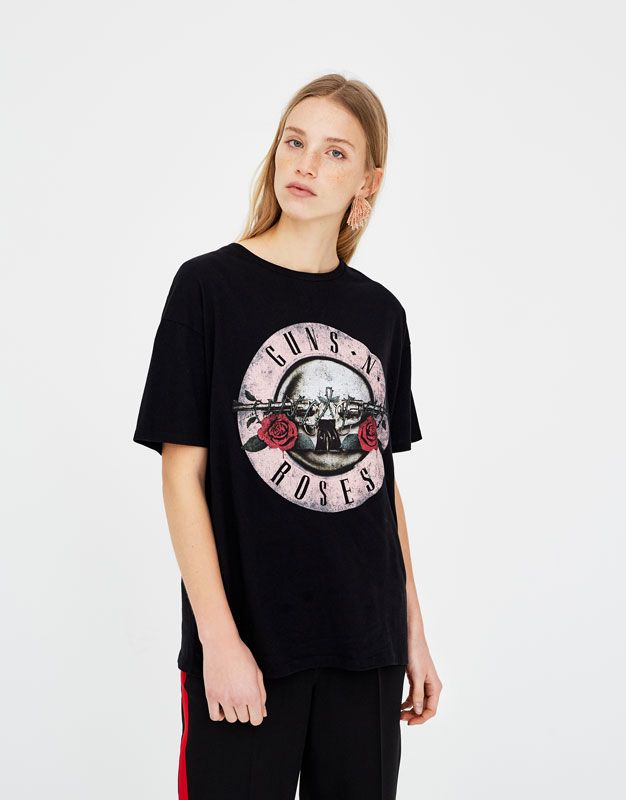T N' amp;bear Guns Shirt Roses Pull Vêtements Shirts Femme zGVMSpqU
