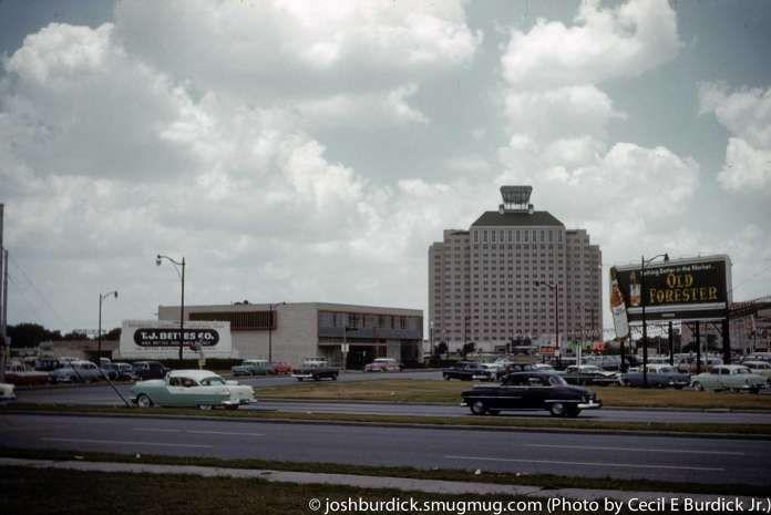 The dearly departed Shamrock Hotel is seen here. Photo: Cecil E. Burdick Jr., Cecil Burdick Jr. / Slides by Cecil E. Burdick Jr
