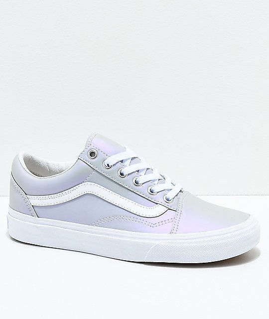 a9707f33861f Vans Old Skool Muted Metallic Grey   White Skate Shoes
