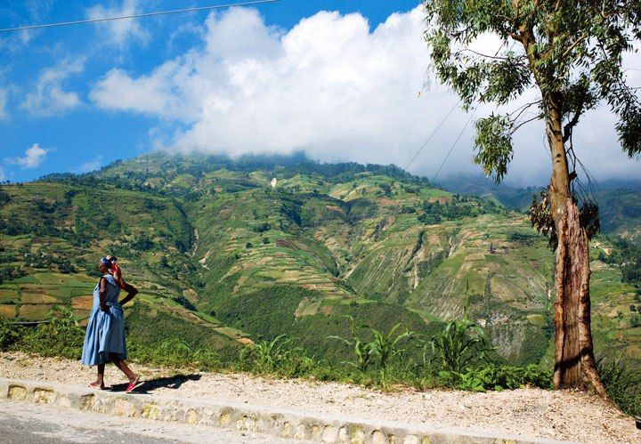 This road above Port-au-Prince, #Haiti, leads to the nineteenth-century Fort Jacques