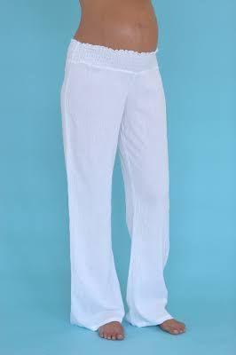 White Maternity Summer Pants