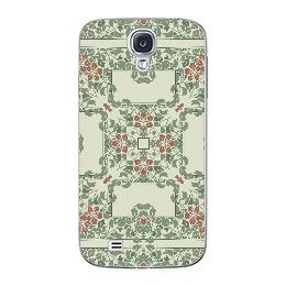 Light green art nouveau floral pattern Samsung Galaxy Skin